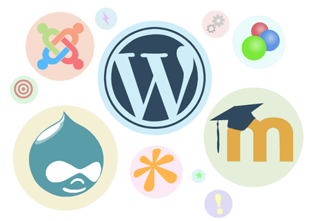 WordPress, Drupal, Joomla, Mambo, Moodle, OS Commerce
